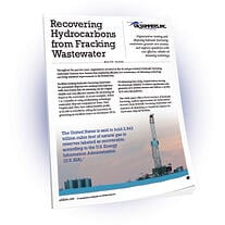 Recovering Hydrocarbons from Fracking Wastewatr