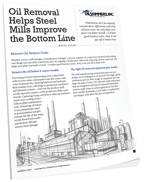 Oil Removal Helps Steel Mills Improve the Bottom Line